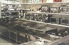Ladenansicht Kochgeräte Mikrowellen Salamander